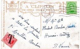 TX18 Sur CF De Liège Vers Hamois-en-Condroz - Postage Due
