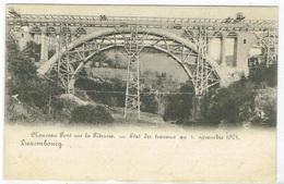 Luxembourg Nouveau Pont Sur La Pétrusse-Etat Des Travaux Au 1,Nov.1901. - Cartes Postales