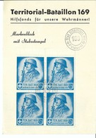 SUISSE Poste Militaire 1939-1940: LSC Carte-souvenir Avec Bloc De 4 BDF - Documents
