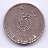 HONG KONG 1993: 5 Dollars, KM 65 - Hongkong