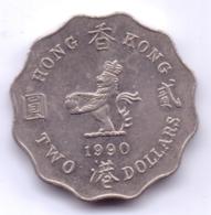 HONG KONG 1990: 2 Dollars, KM 60 - Hong Kong