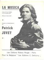 """Partition ( Musique Et Paroles FR ) Patrick JUVET  """" La Musica  """" Chanson, Chanteur, ... - Partitions Musicales Anciennes"""
