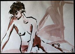 Portrait Dessiné De Femme Nue MARGA COOIMAN - VAN MUIJDEN Drawn Portrait Of Naked Woman - Drawings