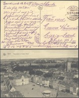 Bataillon Allemand En Flandre - Feldpostkarte (Zandvoort 1915) + Cachet à Pont Kortrijk Et Encadré S.B. Rekruten-dépot - Guerre 14-18