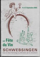SCHWEBSINGEN  Xlll Fete Du Vin - History