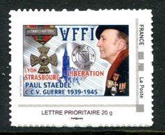 Thème Général De Gaulle - Adhésif Personnalisé - FFI Libération Lyon Strasbourg - T 920 - De Gaulle (General)