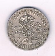 2 SHILLING  1948 GROOT-BRITANNIE /3970// - 1902-1971: Postviktorianische Münzen