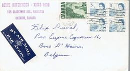 Lettre De Lorme Hutchinson, Gladstone Ave, Hamilton, Ontario, Canada Vers La Belgique (Nov 26 1967) - Brieven En Documenten