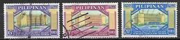 PHILIPPINES    -    1966.   Y&T N° 653 à 655 Oblitérés.   Banque Postale - Filipinas