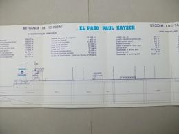 """Fascicule Méthanier """"EL PASO PAUL KAYSER"""" Chantier De France De Dunkerque (Nord ) 59 - Macchine"""