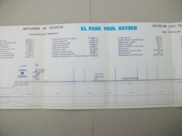 "Fascicule Méthanier ""EL PASO PAUL KAYSER"" Chantier De France De Dunkerque (Nord ) 59 - Maschinen"