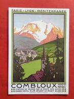 74  CPSM  COMBLOUX Reproduction D'affiche De R. Broders 1925 Très Bon état - Combloux