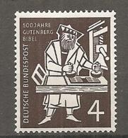 BDP 1954 Yv N° 74 Mi N° 198  ** MNH  Gutenberg  Cote 1,4 Euro TBE - Nuovi