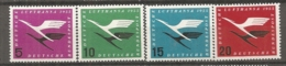 BDP 1955 Yv N° 81 à 84 Mi N° 205 Bis 208  ** MNH  Lufthansa  Cote 40 Euro TBE - Nuovi