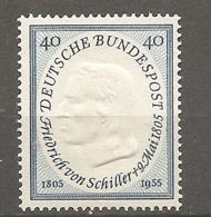 BDP 1955 Yv N° 86 Mi N° 205 Bis 209  ** MNH  Schiller  Cote 22 Euro TBE - Nuovi