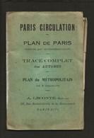 Plan De Paris Colorié Par Arrondissement,métropolitain En 8 Couleurs Et Tracé Complet Autobus / éditeur A.Leconte - Europe
