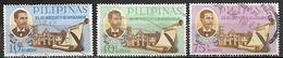 PHILIPPINES   -   1968.    Y&T N° 691 à 693 Oblitérés.    Félipe G. Calderon.  Encrier  /  Plume. - Filipinas
