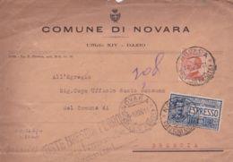 1926 MICHETTI C.60 + ESPRESSO Lire 1,25 Su Espresso Novara (1.12) - 1900-44 Vittorio Emanuele III