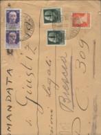 1944 IMPERIALE Lire 1,75 + IMPERIALE Sopr.RSI Due C.25 E Coppia C.50 Su Raccomandata Trieste (23.3) Per Ministero Giusti - 4. 1944-45 Social Republic