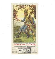 BUVARD   Caramels Isicrem  Ets Isicrem Galliot D Isigny  HUSSARD DE LA MARINE  N 8  *****  RARE A SAISIR   ****** - Dairy