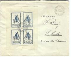 SUISSE Poste Militaire 1939-1940: LSC Avec Bloc De 4 - Poste Militaire