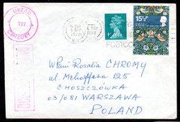 POLAND 1982 SOLIDARITY SOLIDARNOSC PERIOD MARTIAL LAW OCENZUROWANO CENSORED MAUVE CACHETS CENSOR 717 GB GREAT BRITAIN WA - 1944-.... Republik