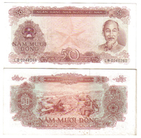 Viet Nam STATE BANK OF VIETNAM 50 DONG 1976 Circulated Lotto 1136 - Viêt-Nam