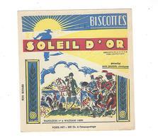 BUVARD  Biscottes SOLEIL  DOR  NAPOLEON 1 Er   ***** RARE  A SAISIR   ****** - Zwieback