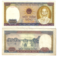 SOCIALIST REPUBLIC  OF VIETNAM Viet Nam 100 DONG 1980 Circulated Lotto 1137 - Vietnam