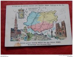CARTE GEOGRAPHIQUE   -  Brabant  - Braband      - ( Pub Amidon Remy ) - - Cartes Géographiques