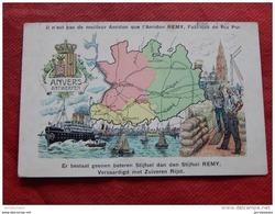 CARTE GEOGRAPHIQUE   -  Anvers  - Antwerpen      - ( Pub Amidon Remy ) - - Cartes Géographiques
