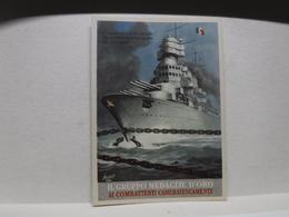 FRANCHIGIA   II  GUERRA  - ILL. GINO BOCCASILE -- L'ITALIA SPEZZA LE CATENE  --ecc. -- IL GRUPPO MEDAGLIE D'ORO -ROSSO - War 1939-45