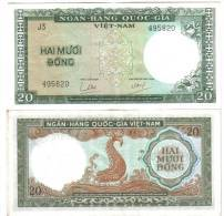 Viet Nam SOUTH VIETNAM 20 DONG 1964 Circulated  Lotto 1139 - Vietnam