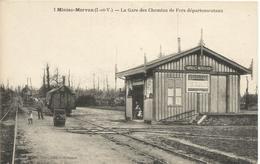 35 MINIAC MORVAN La Gare Des Chemins De Fers Departementaux - Autres Communes