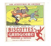 BUVARD  Biscottes  GRINGOIRE   LE MEINIER GRINGO ET L ANE  2   *****    A SAISIR   ****** - Zwieback