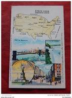CARTE GEOGRAPHIQUE   -  Etats-Unis  - ( Pub Amidon Remy ) - Cartes Géographiques