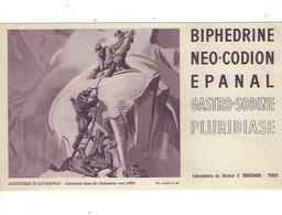 BUVARD  Biphedrine  Neo Codion Epanal  LABO  E BOUCHARA PARIS  *****    A SAISIR   ****** - Produits Pharmaceutiques
