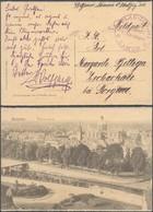 """Bataillon Allemand - Feldpostkarte + Feldpost-Briefstempel """"Flak-Zug. 111 / Namur"""" (avec Fleron) - Weltkrieg 1914-18"""
