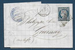 Cérès N° 4 Sur Lettre De Rouen - Marcophilie (Lettres)