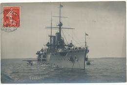 "ROYAN - Carte Photo - Navire De Guerre Japonais, Le ""Tsukuba"" - Royan"