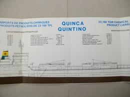 """Fascicule Transports Produits Chimiques Et Pétroliers """"QUINCA QUINTINO"""" Chantier De France De Dunkerque (Nord ) 59 - Macchine"""