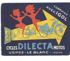 BUVARD  CYCLES DILECTA   MOTOS  LE BLANC INDRE  *****  RARE    A SAISIR   ****** - Motos & Bicicletas