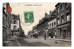 04277-LE-59-AVESNES-La Rue De Près-------------animée-attelage-commerces - Avesnes Sur Helpe