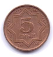 KAZAKHSTAN 1993: 5 Tyin, KM 2 - Kasachstan