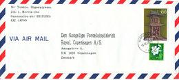 Japan Air Mail Cover Sent To Denmark Hamamathushi 5-9-1989 - Airmail