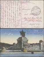 """Bataillon Allemand En Flandre - Feldpostkarte (Ostend 1916) + Briefstempel """"B.A.K. - Schule Ostende / Kommando C. II"""" - Guerre 14-18"""