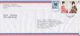Japan Air Mail Cover Sent To Denmark Osaka 11-5-1989 - Airmail