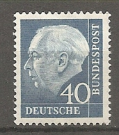 BDP 1956 Yv N° 126a Fluo  Mi N° 260y  ** MNH  40p  T. Heuss  Cote 4 Euro TBE - Nuovi