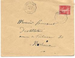 Convoyeur Ligne N°2525 Lézignan à La Nouvelle  Type 2 Aller  1909 - Railway Post