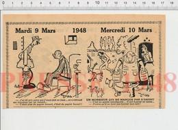 Humour Literie Matelas Sommier Fakir Faire Le Lit Spirite Table Qui Tourne Spiritisme Lait Laiterie Papier Buvard198PF45 - Old Paper